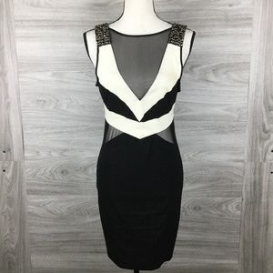 Lipsy London Black / White Midi Dress